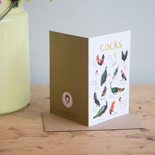 Cocks Greetings Card x 6