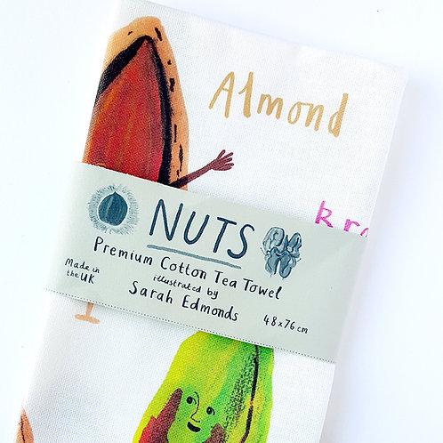 Nuts Tea Towel