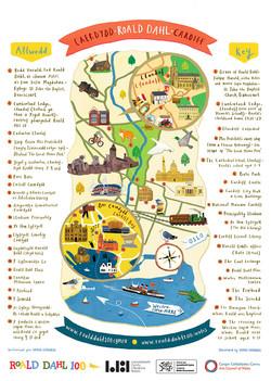 Roald Dahl Map of Cardiff