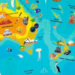 Globe design: Australia / Oceania
