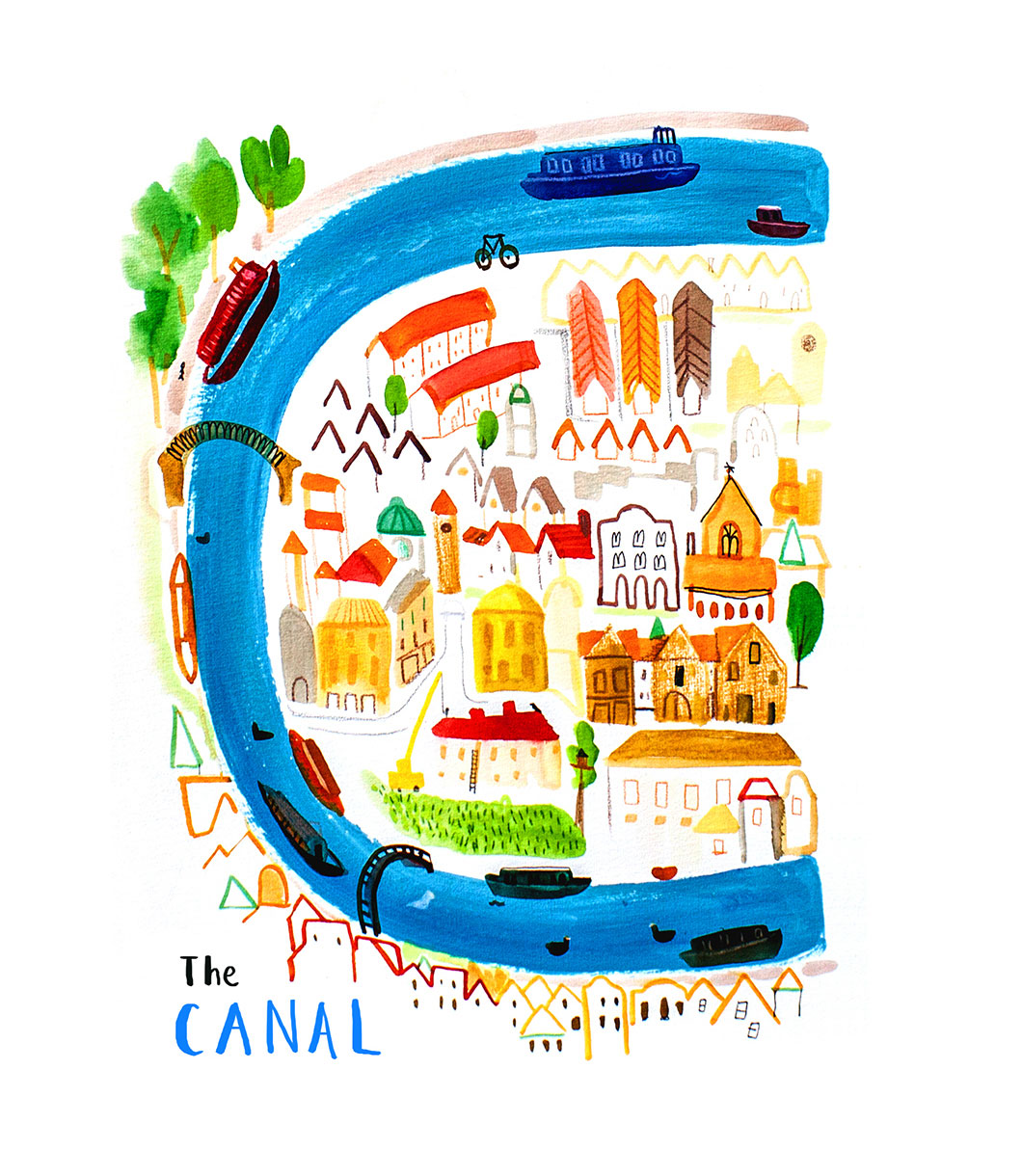 Canal-postcard