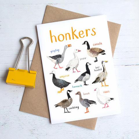 Honkers Greetings Card