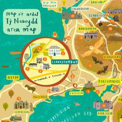 Ty Newydd Area Map - Sarah Edmonds