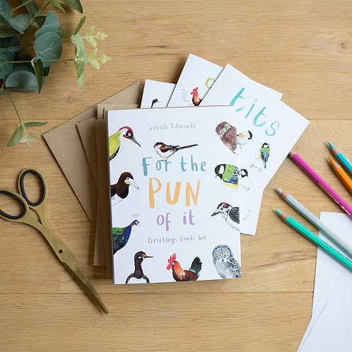 For the Pun of It Set of 6 Cards