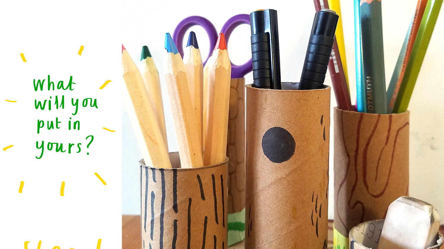 Loo Roll Craft Club - Desk Tidy 9