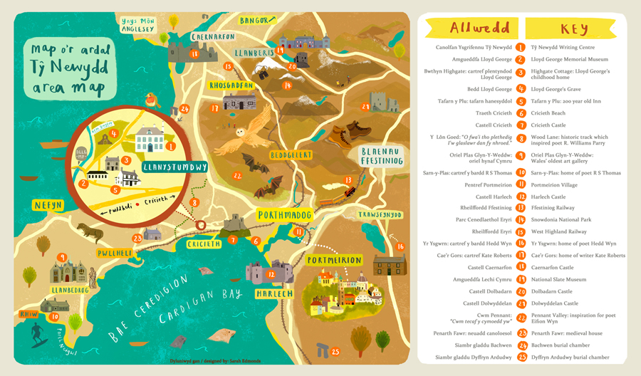 Ty Newydd Area Map - Sarah Edmonds
