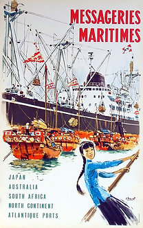 "Poster ""MESSAGERIES MARITIMES"""