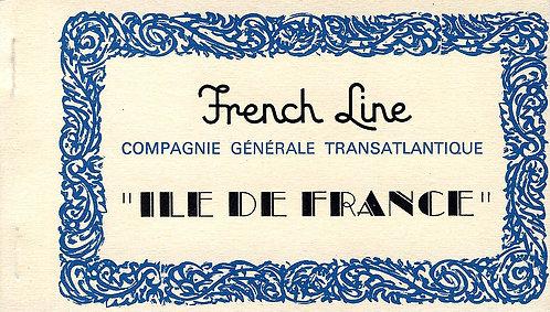 """CARNET DE CARTES POSTALES """"ILE DE FRANCE"""""""
