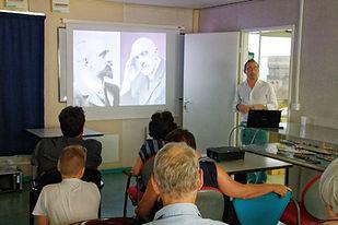 Jean-Charles Tillays anime la conférence Charcot