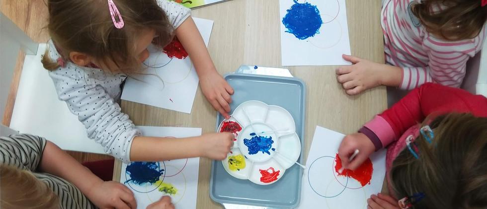 "Učíme se ""Mixing colors"""