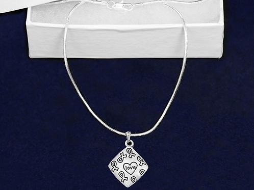 Square Love Necklaces