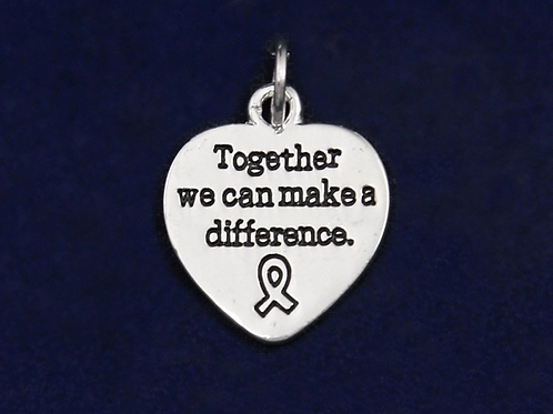 Difference Ribbon Awareness Charm