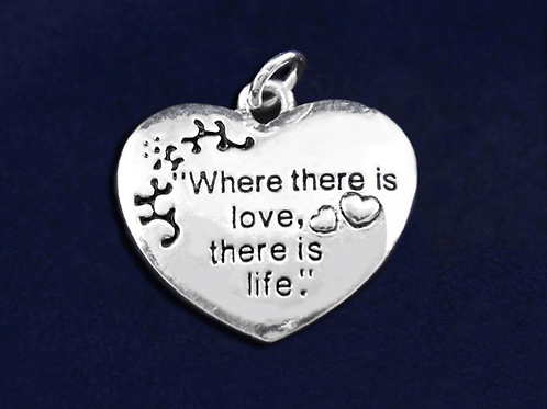Where There Is Love Awareness Charm