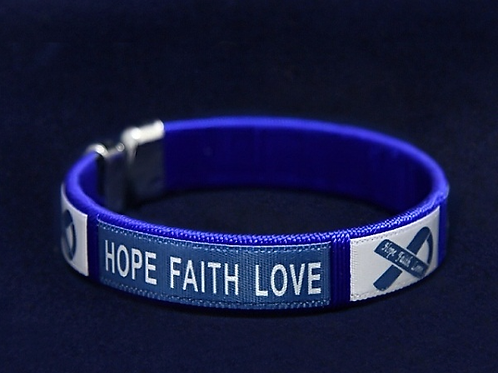 Child  Hope Dark Blue Bangle Bracelet