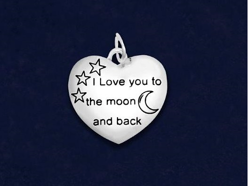 I Love You To The Moon And Back Charm