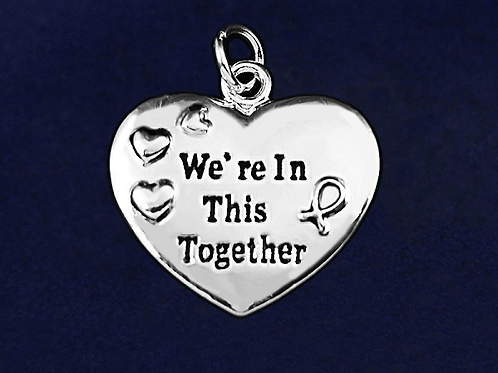 Together Dark Blue Ribbon Charm