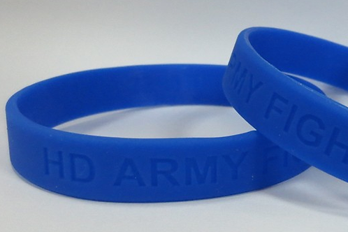 HD ARMY FIGHTING FOR A CURE - Blue Wristband