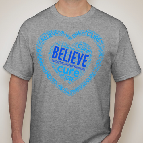 BELIEVE Gray T-Shirt