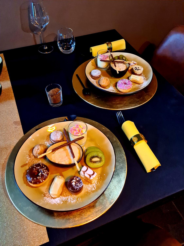 Desserten arrangement