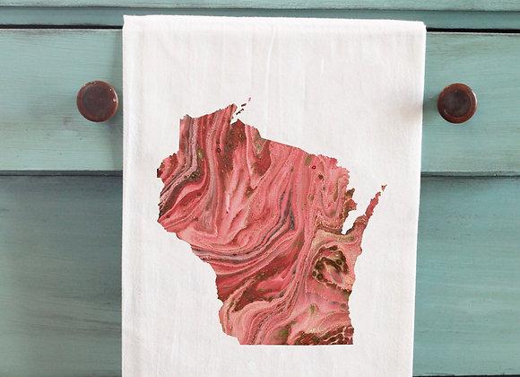 State Marble Tea Towel
