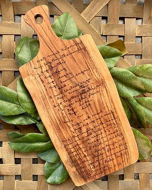 Custom Recipe Cutting Board