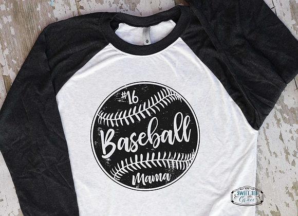Baseball Mom / Mama - Customized Raglan 6051