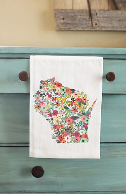Floral State Tea Towel