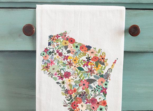 Floral State Tea Towel