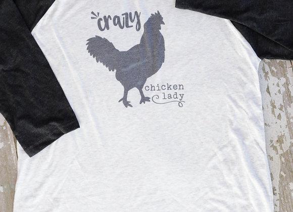 Crazy Chicken Lady Raglan