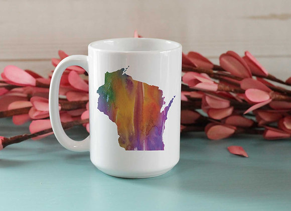 Custom State Watercolor Mug