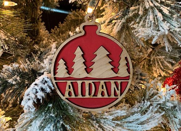 Tree Design Christmas Ornament