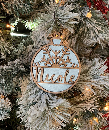 Snowflake Design Christmas Ornament