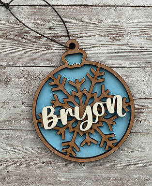 Triple Layer Christmas Ornament
