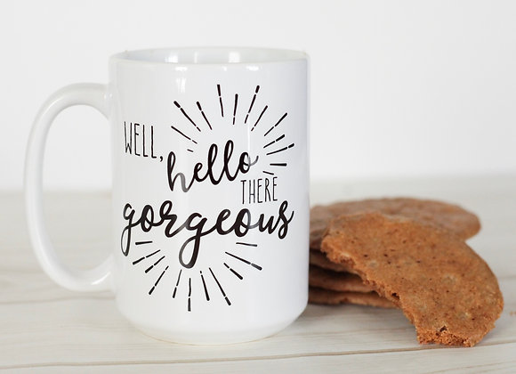 Well, hello there gorgeous coffee mug