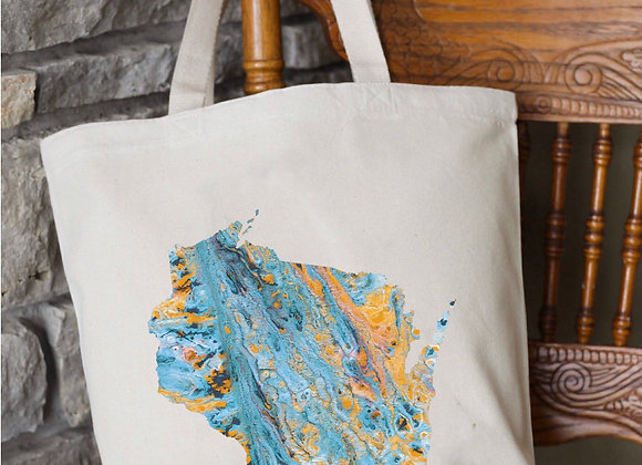 Custom State Marble Paint Tote