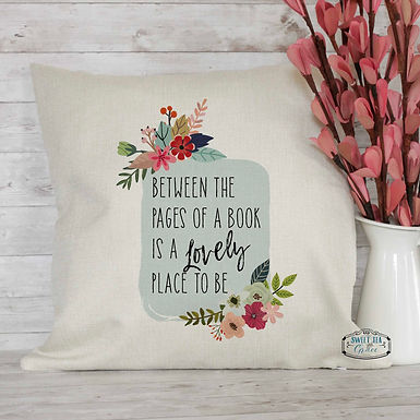 Between the pages of a book is a lovely place to be - throw pillow