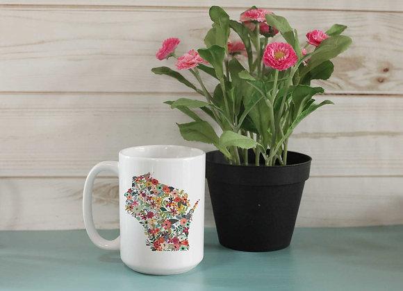 Custom State Floral Mug