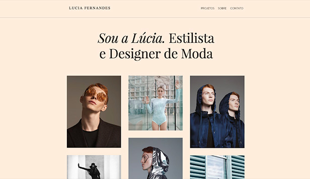 Design website templates – Estilista de moda