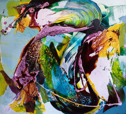 150cm x 160cm Mixed Media on Canvas  Available from the studio.