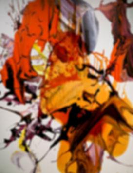 Solar Flare 220x172, mix media on canvas