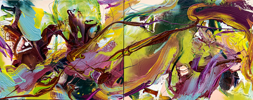 Calm 1200 x 3000mm mixed media on canvas