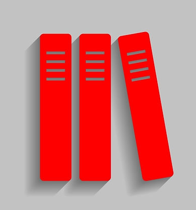 row-of-binders-office-folders-icon-red-v