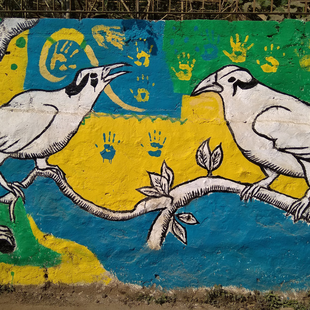 "Art mural: ""We love our animals"""