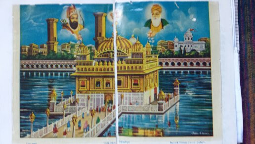 Photo: Picture of Golden Temple, Amritsar found in book.