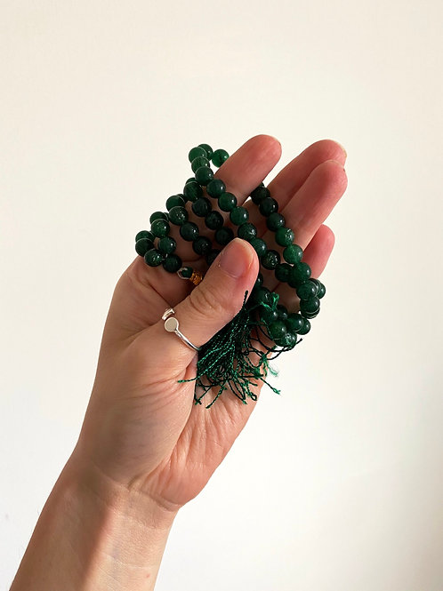 JADE MALA BEADS Self-Healing + Love + Courage