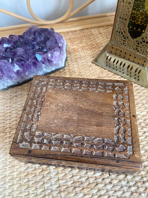 Antique wooden ritual box