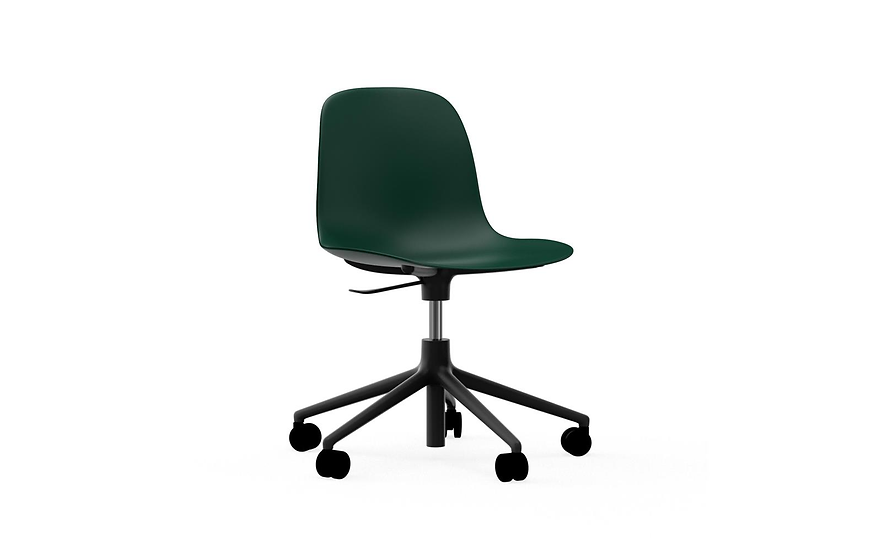 Form Chair Swivel on Casters (Black Aluminum)