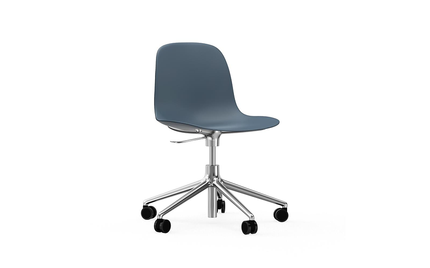 Form Chair Swivel on Casters (Polished Aluminum)