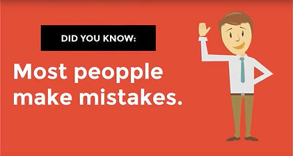 most people make mistakes
