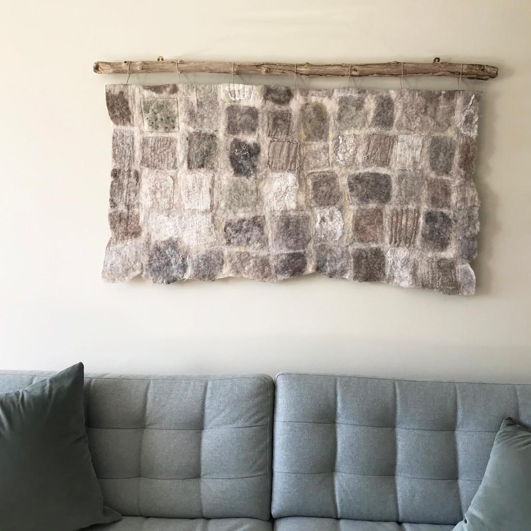 'Wall' Large Handmade Felt
